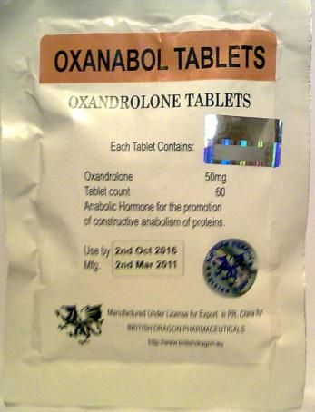 Anavar (Oxanabol) 50mg x 60 tablets (British Dragon